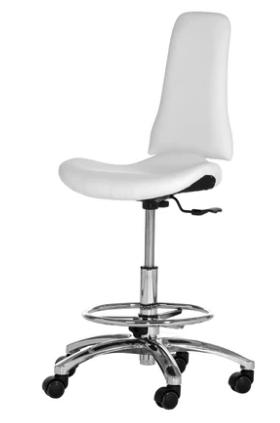 Arbeitshocker XI med Fotring i vit & svart Made in Germany