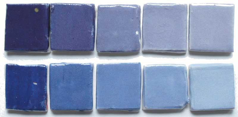 deco-basic 15 - prover. Alla färger kan blandas med vitt för ljusare skala.