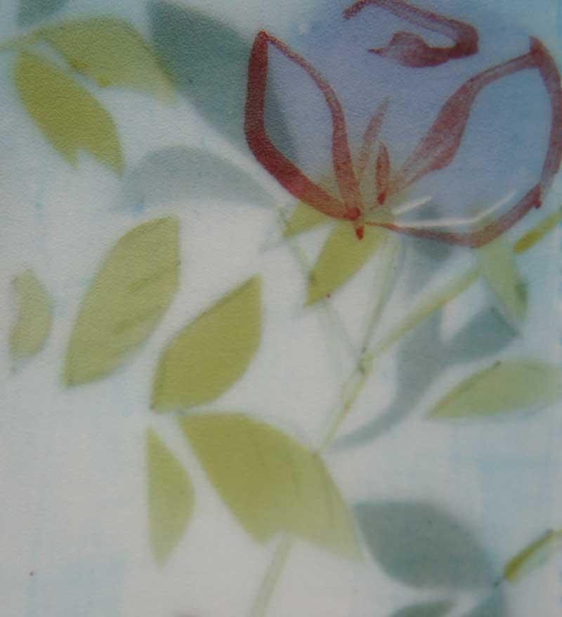 deco-basic 24 - relief. Bladen på reliefen är gjorda med airbrush. En schablon och en svamp att dutta med kan ger ett snarlikt resultat.
