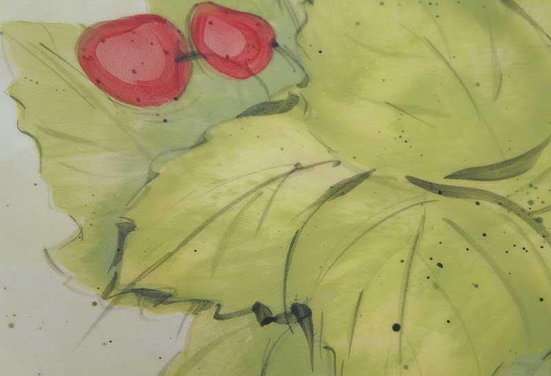 deco-basic 28 - fat. Bladen på bilden gjorda med papper schablon och pensel.