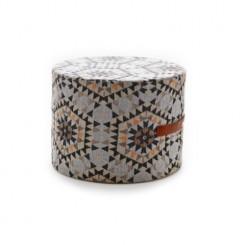Heavenly honeycomb grå - Ottoman