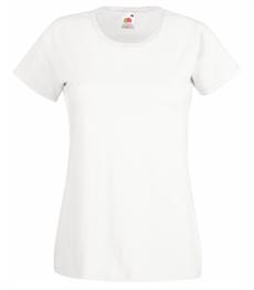 Vit - T-shirt Fruit of the loom - 5 st T-shirt XS 83/62cm- vit