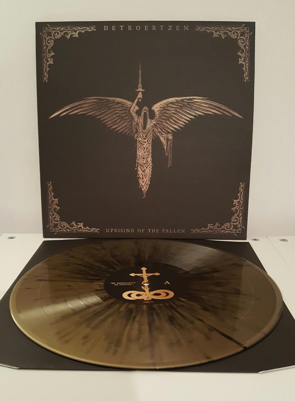 Golden splatter vinyl