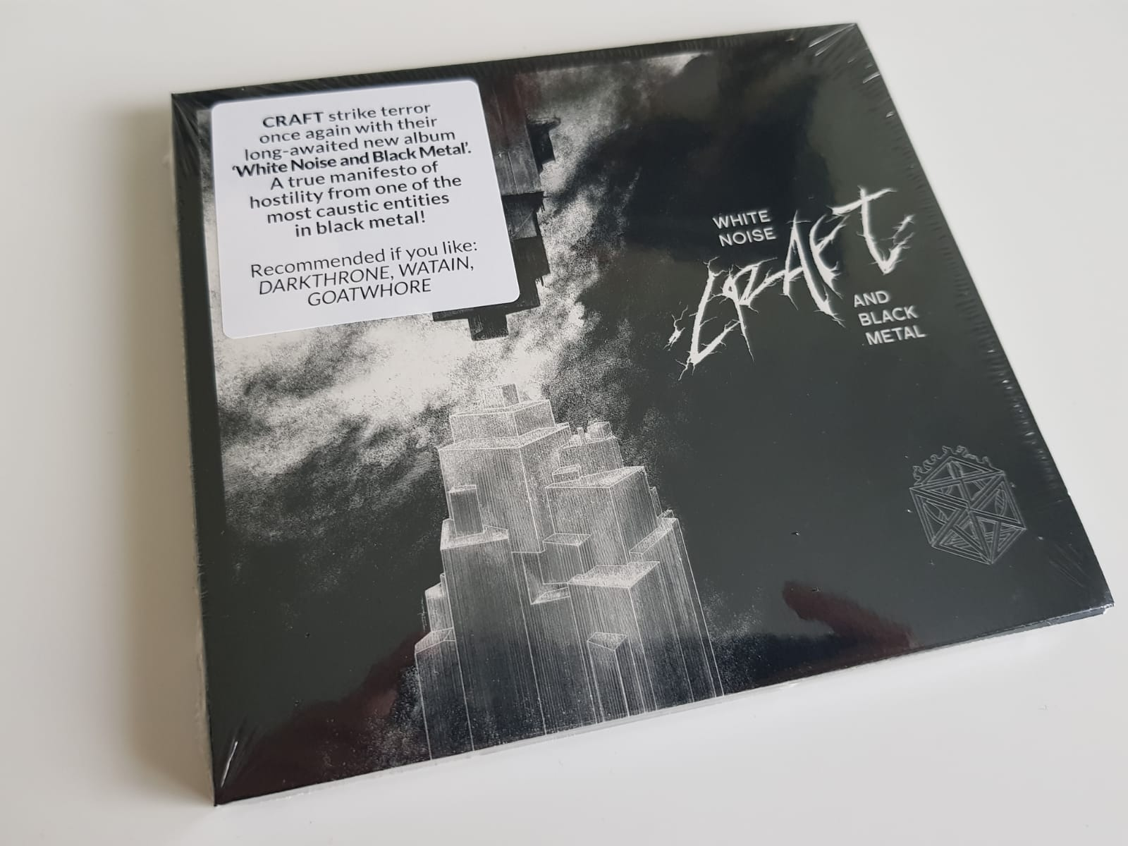 """CRAFT – """"White Noise And Black Metal"""" Digipack CD"""