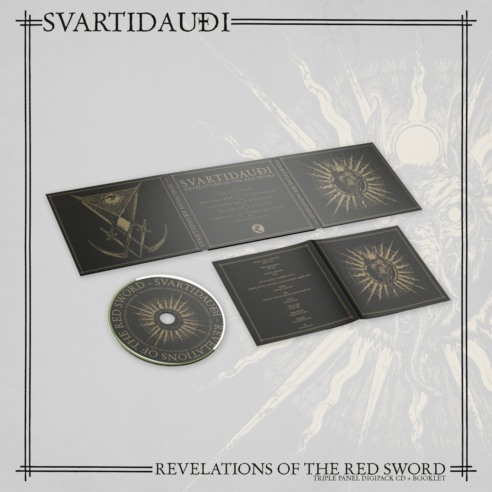 SVARTIDAUDI – Revelations of The Red Sword Digipack CD
