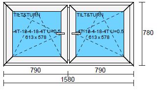 2-luftfönster 16x8