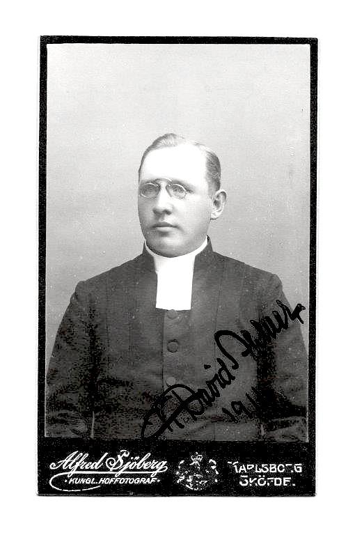 K. David Ahlner, 1911. Foto från Lars Olof Larsson, Timmersdala, 2015