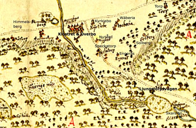 En geografisk karta över Billingen ritades 1659 och visar Norra och Södra Billingen, som huvudsakligen bestod av Allmänningen /Krono- parken Billingen. Parken var officiellt ännu inte instenad.