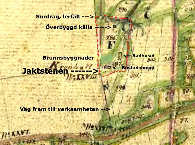 Det tycks vara området inom den röda streckningen som avsätts som Littera F = Himmelskällan och som sedan säljs med körväg ut till landsvägen = X