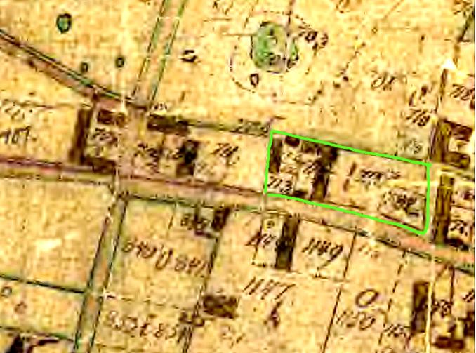 Karta 1844 - före Laga skiftet 1850