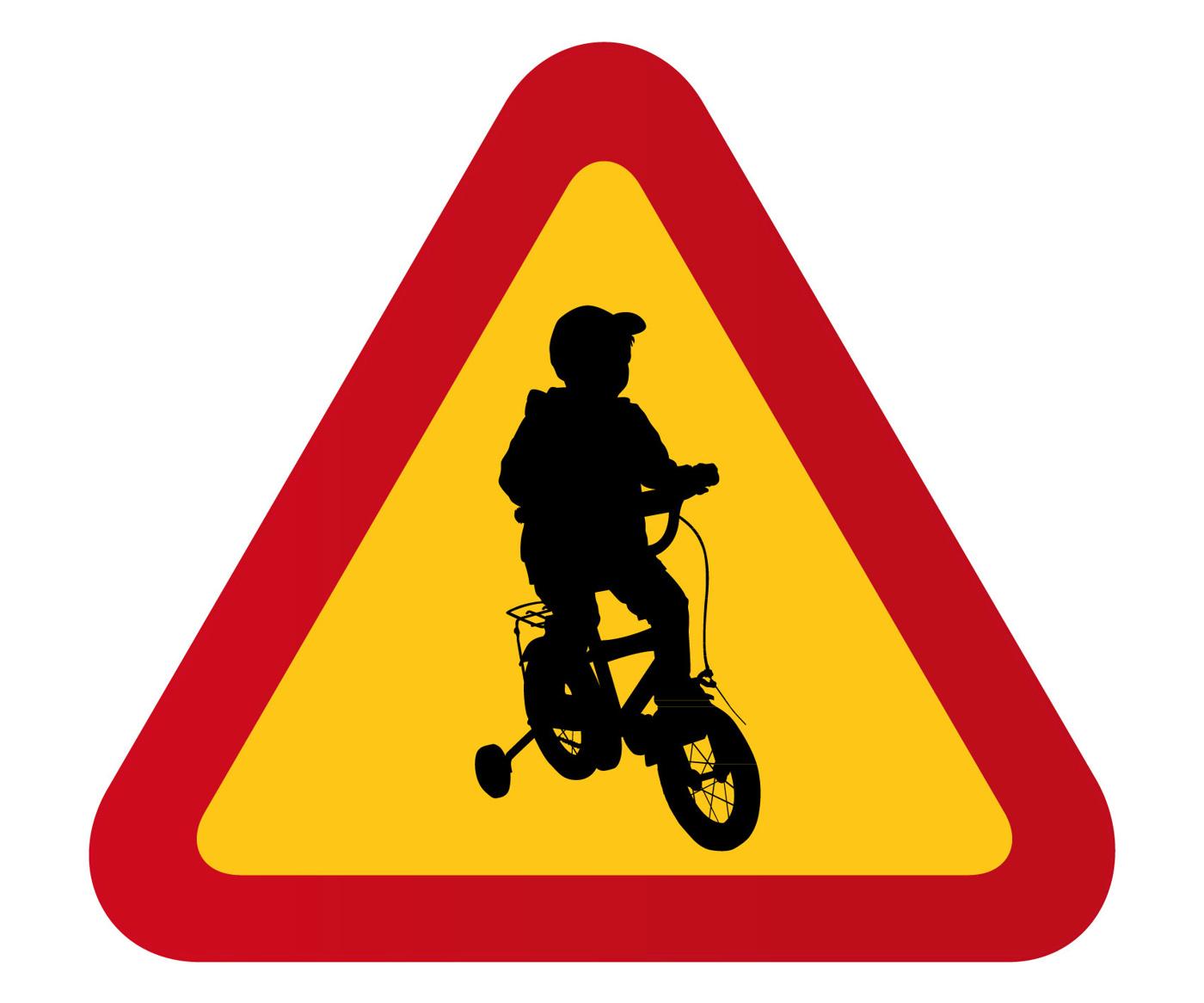 Barn, pojke på cykel