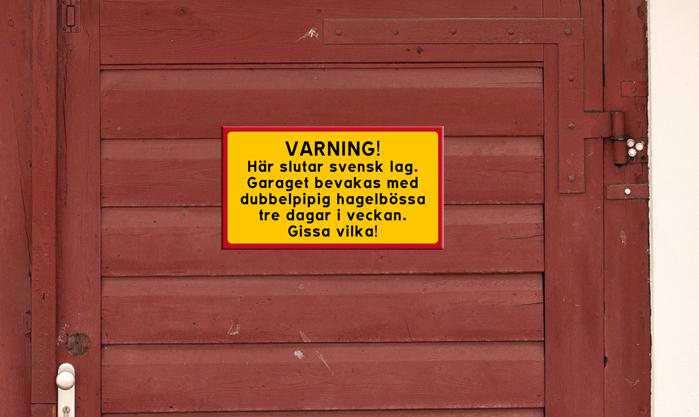 Varning - här slutar lagen