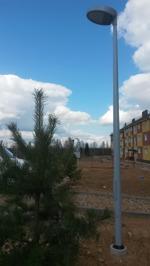 De första stolparna är installerade i Ryssland!