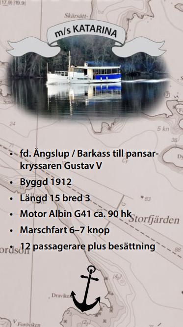 Vår båt m/s Katarina på en båttur i Höga Kusten