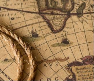Gammalt sjökort över Ångermanälven