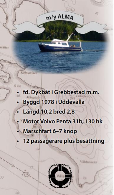 Vår båt m/y Alma på en båttur på Ångermanälven