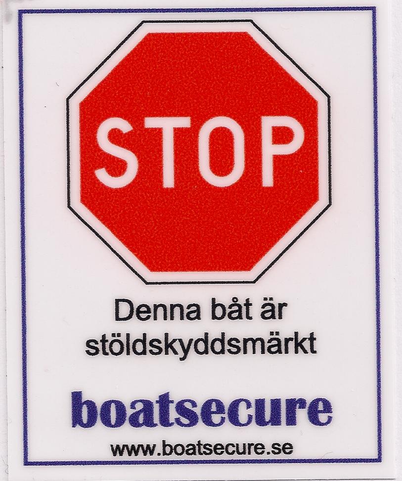 boatsecure plastdekal
