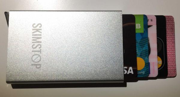 Skimstop plånbok silver
