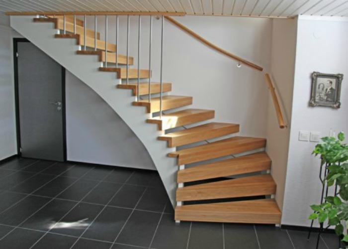 ledstång trappa ek