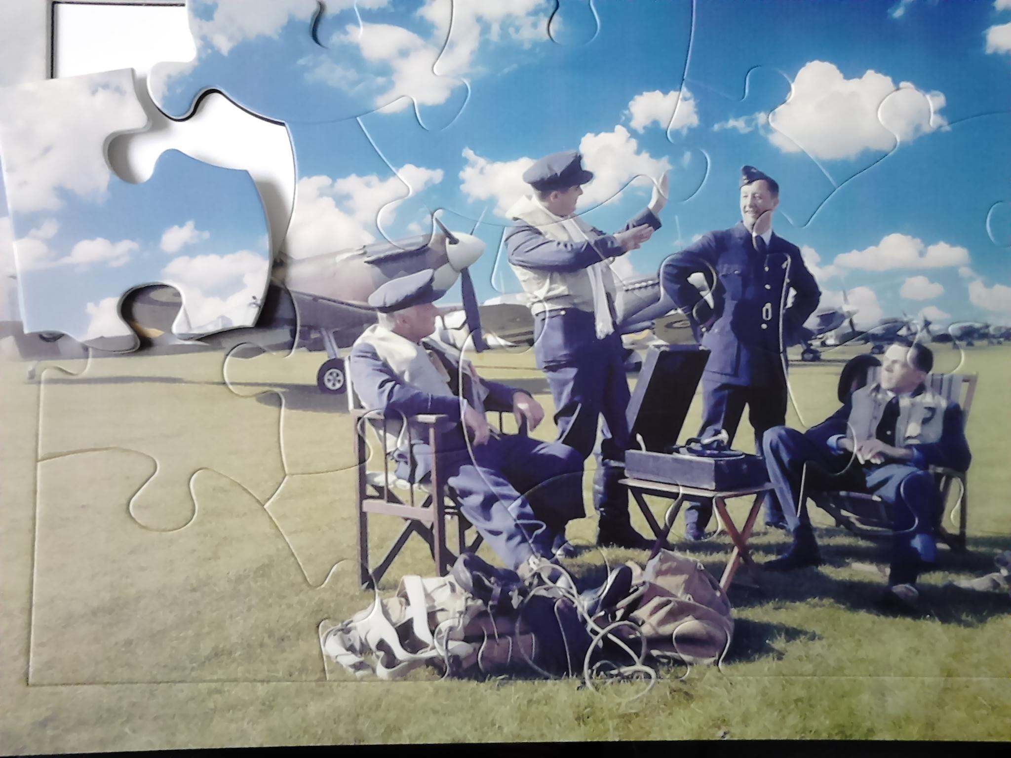 13 bitars pussel Spitfire piloter