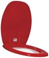 Toalettsits röd hård med förstärkt fäste med lock - Toalettsits röd hård med lock