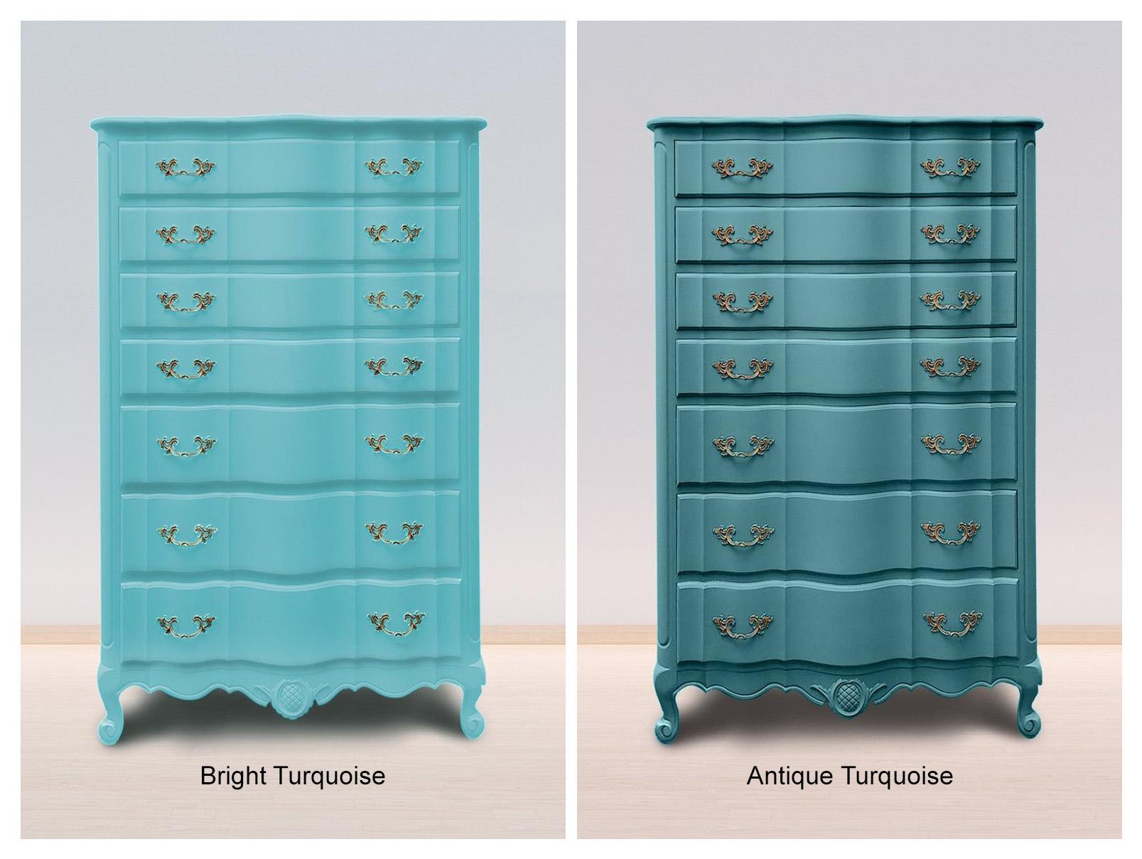 Bright  Turqupise & Antique Turquoise