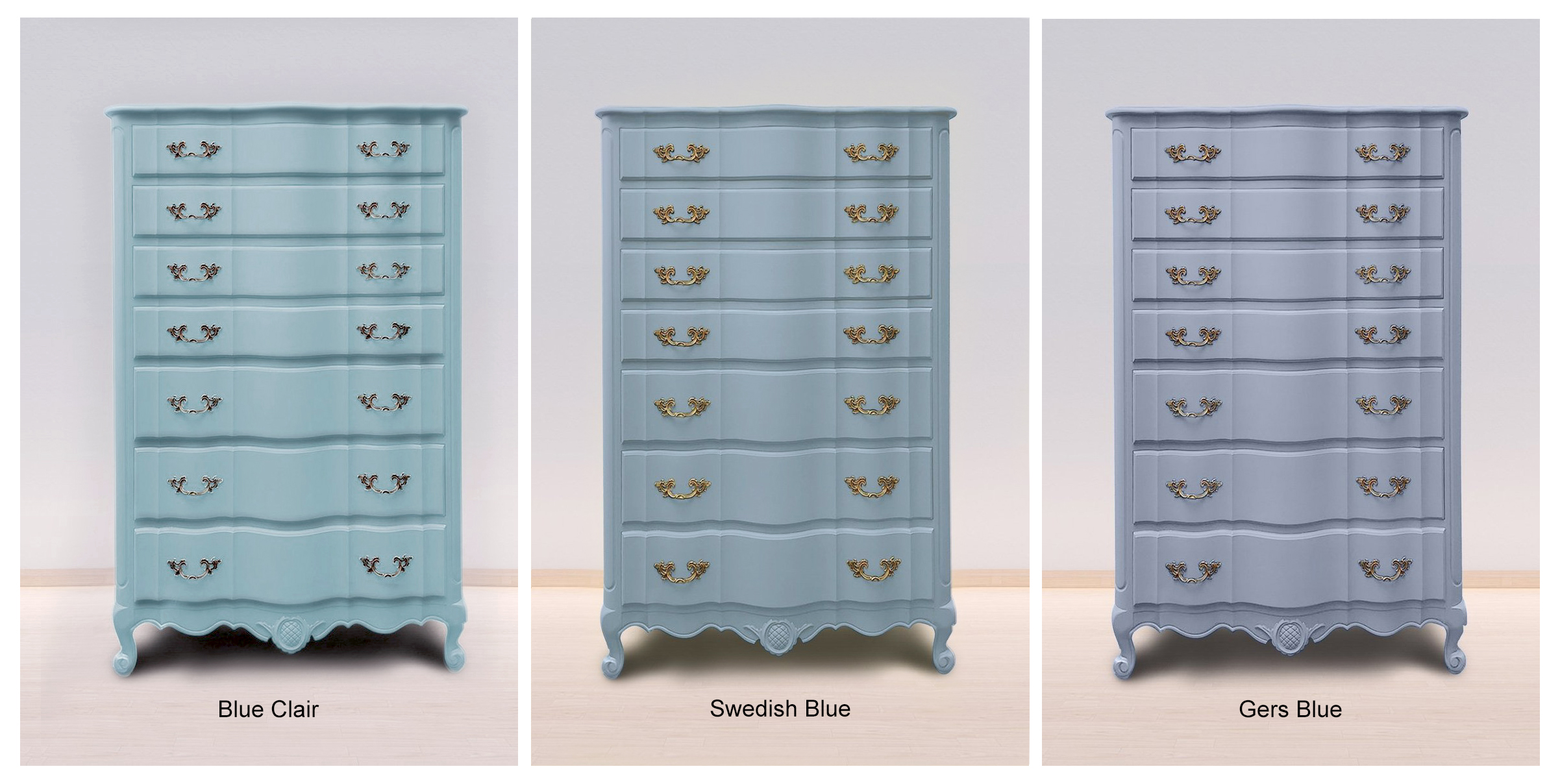 Blue Clair, Swedish Blue & Gers Bleu