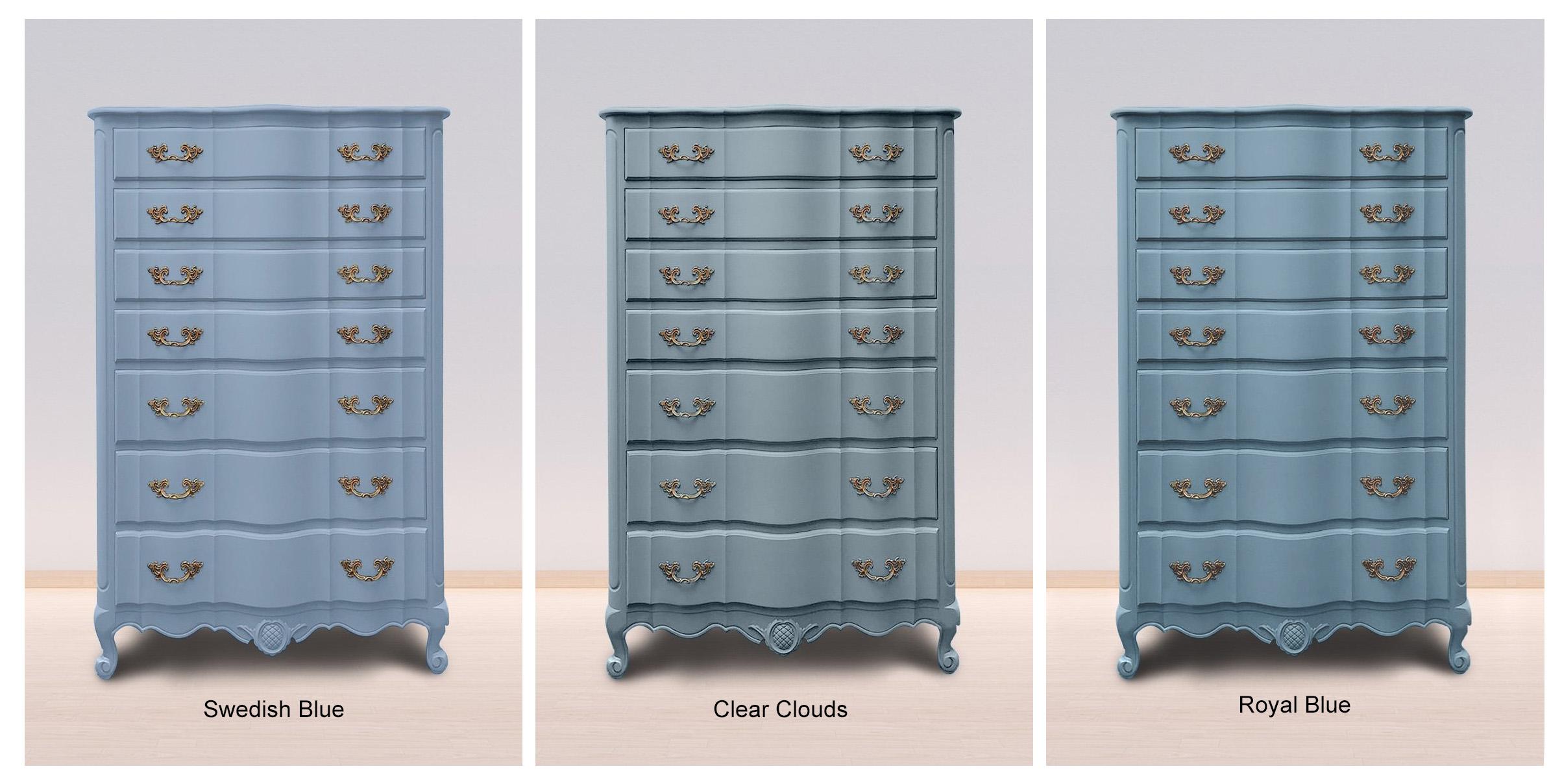 Swedish Blue, Clear Clouds & Royal Blue