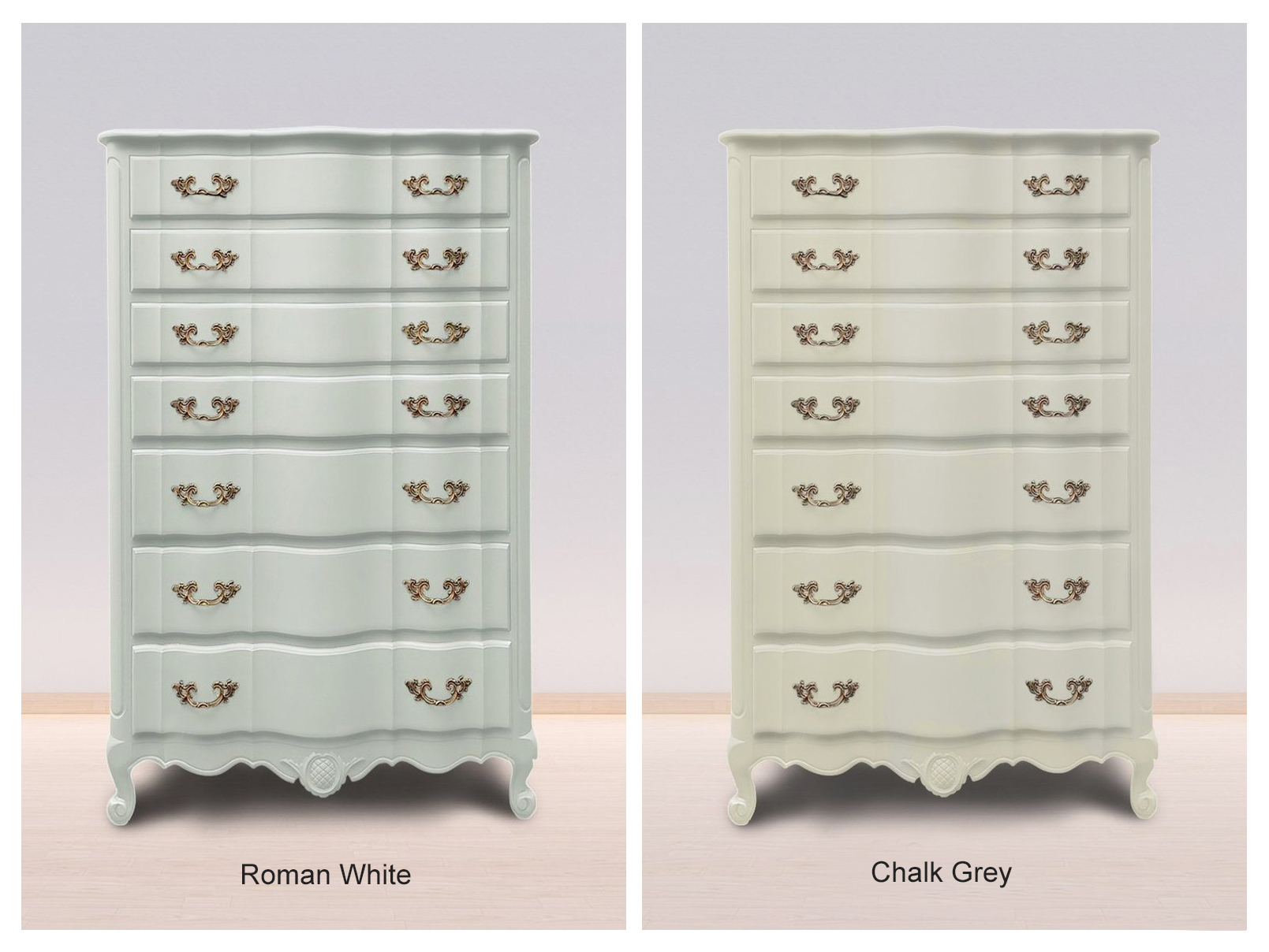 Roman White & Chalk Grey