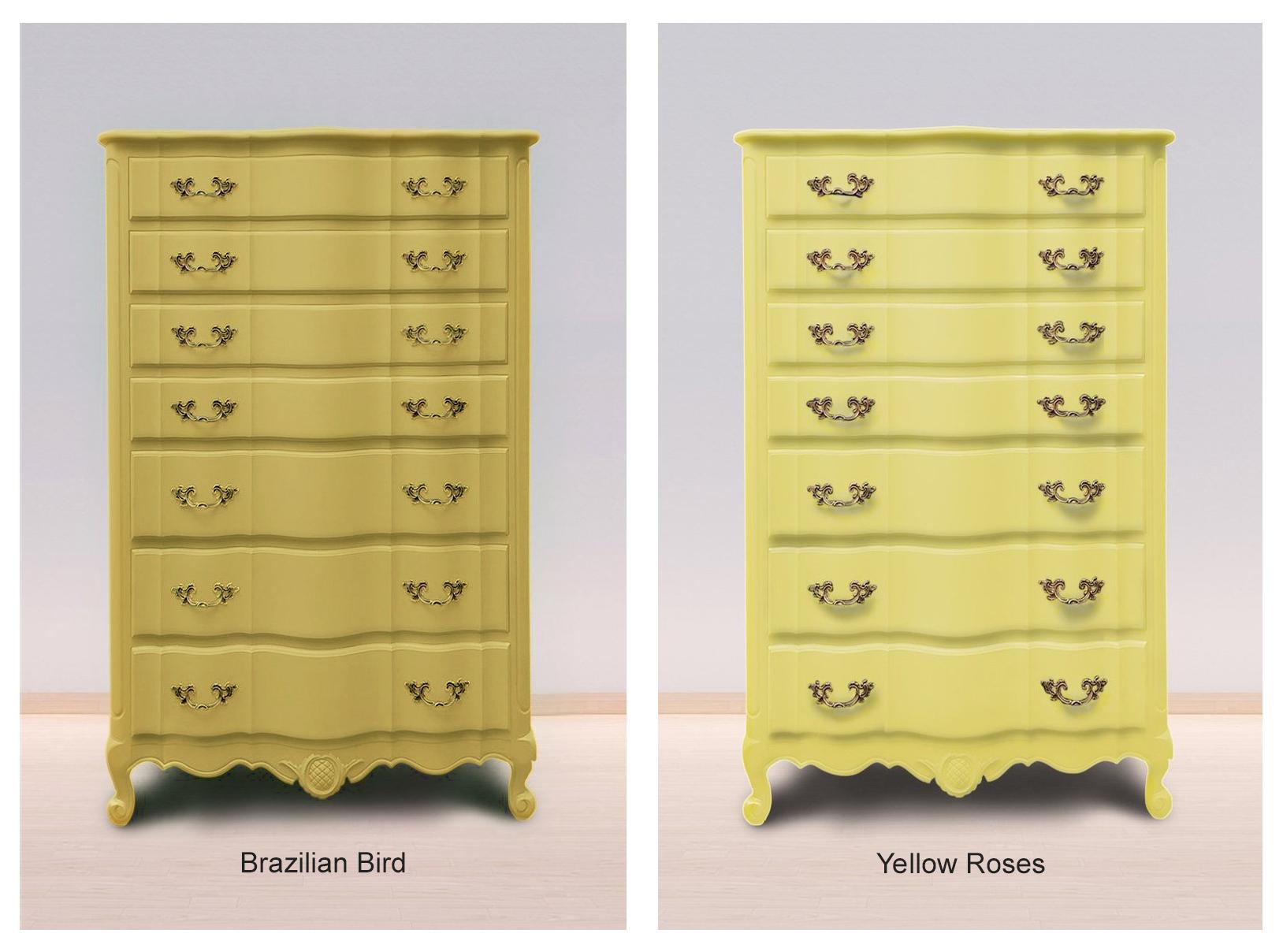 Brazilian Bird & Yellow Roses