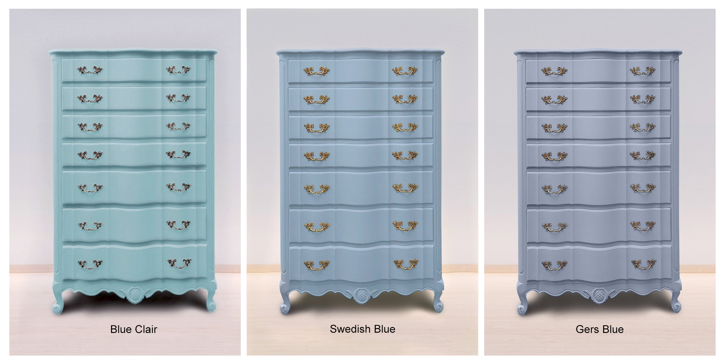 Bleu Clair, Swedish Blue & Gers Bleu