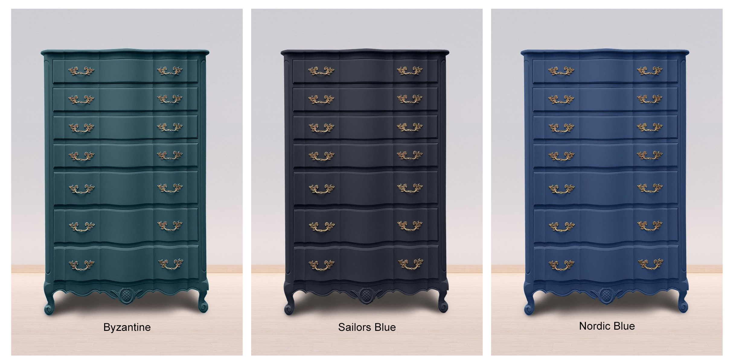 Byzantine, Nordic Blue & Sailord Blue