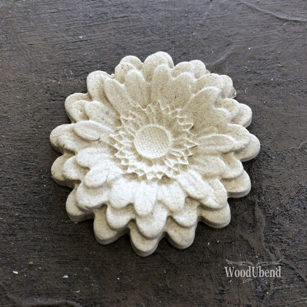Classic Rounded Petal Flower WUB0354 5cm