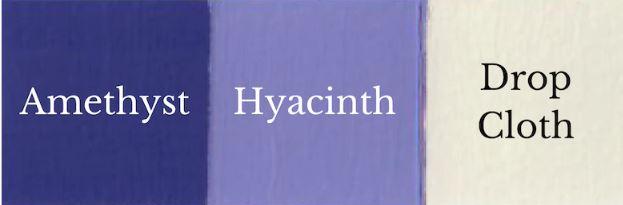 1 del Amethyst + 1 del Drop Cloth = Hyacinth