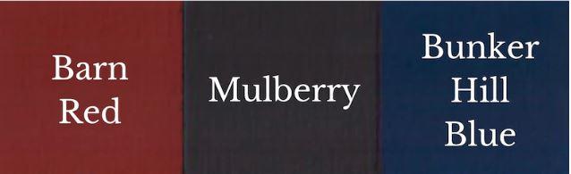 1 Del Barn Red + 1 Del Bunker Hill Blue = Mulberry