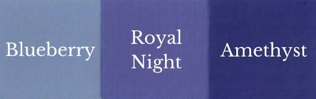 1 Del Blueberry + 1 Del Amethyst = Royal Night
