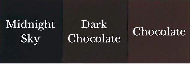 1 del Chocolate + 1 del Midnight Sky = Dark Chocolate