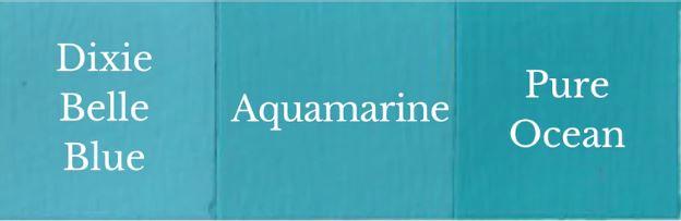 1 del Dixie Belle Blue + 1 del Pure Ocean = Aquamarine