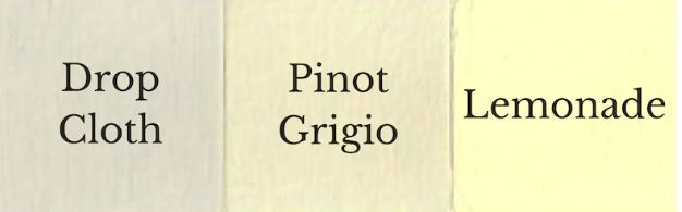 1 del Drop Cloth + 1 del Lemonade = Pinot Grigio
