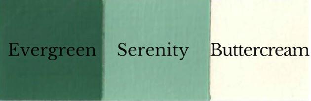 1 del Evergreen + 1 del Buttercream = Serenity
