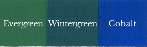 1 del Evergreen + 1 del Cobalt = Wintergreen