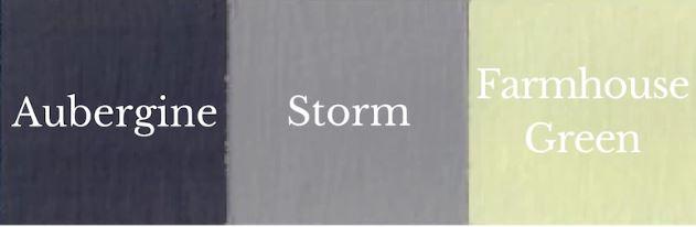 1 del Farmhouse Green + 1 del Aubergine = Storm