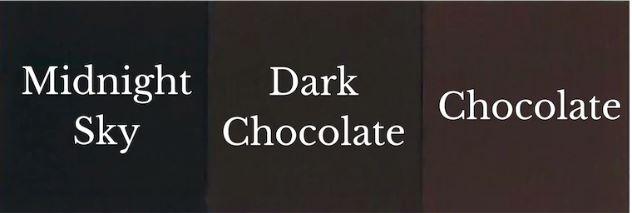 1 del Midnight Sky + 1 del Chocolate = Dark Chocolate