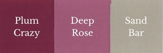 1 del Sand Bar + 1 del Plum Crazy = Deep Rose