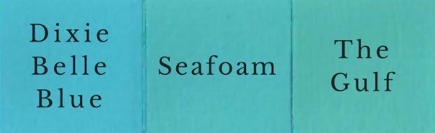 1 del The Gulf + 1 Del Dixie Belle Blue = Seafoam