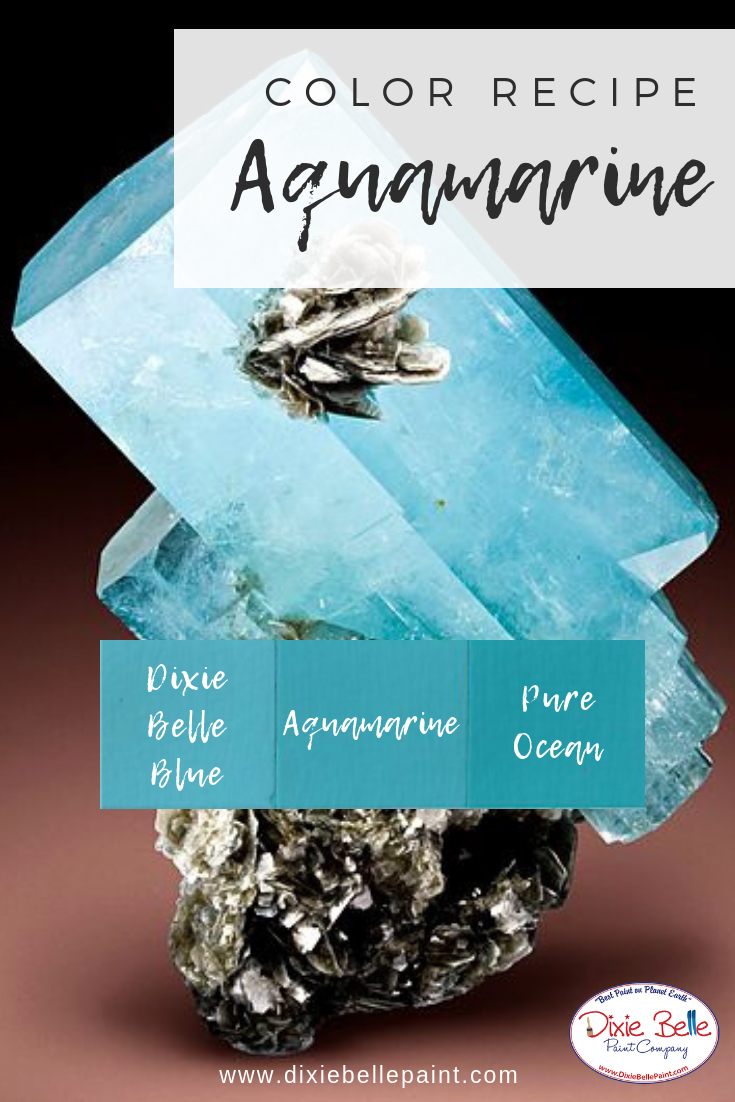 Aquamarine Dixie Belle Chalk Mineral Paint Color Recipe