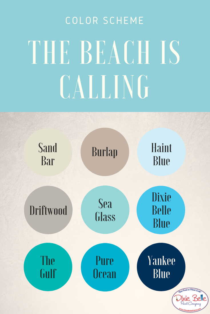 Beachy Color Scheme Chalk Mineral Paint Dixie Belle