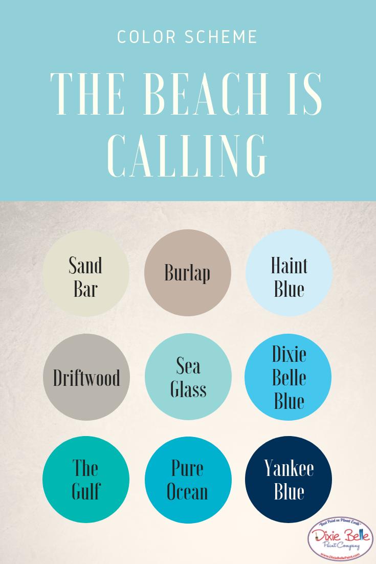 Beachy Color Scheme Chalk Mineral Paint Dixie Belle