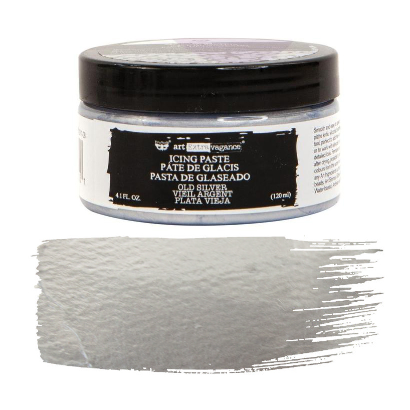 Art Extravagance Icing Paste Old Silver