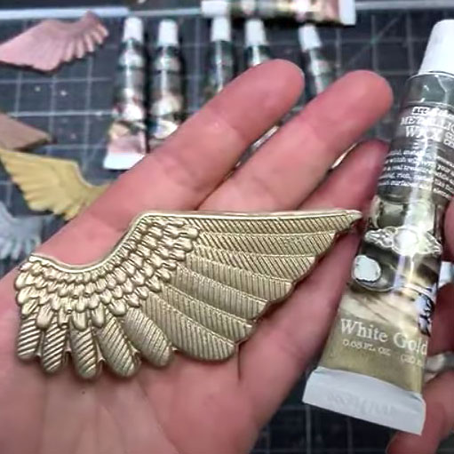 FINNABAIR Art Alchemy Metallique Wax- White Gold